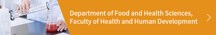 Department of Food and Health Sciences, Faculty of Health and Human Development